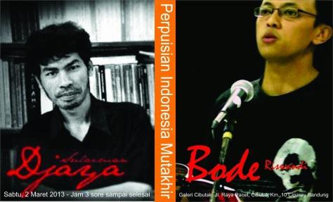 Diskusi Cibutak Bandung 2 Maret 2013 Bersama Sulaiman Djaya dan Bode Riswandi